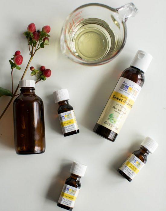 óleo para massagem com óleos essenciais - receita 2