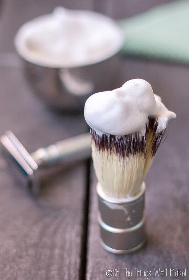 como fazer creme de barbear