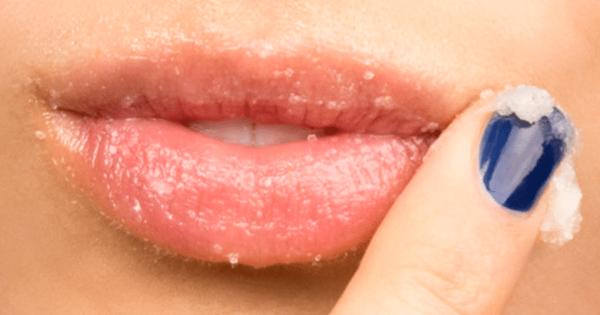 Esfoliante labial caseiro